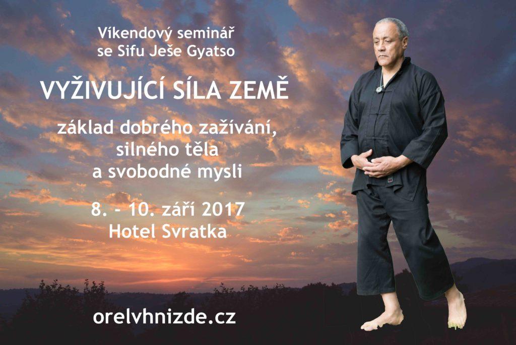 Čchi-kung Orel vhnízdě - víkendový seminář vzáří 2017 natéma Vyživující síla Země